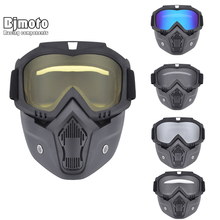 Motorcycle Goggles Face Dust Mask bicycle Open Face Moto protective glasses gafas Vintage Helmets safety mx