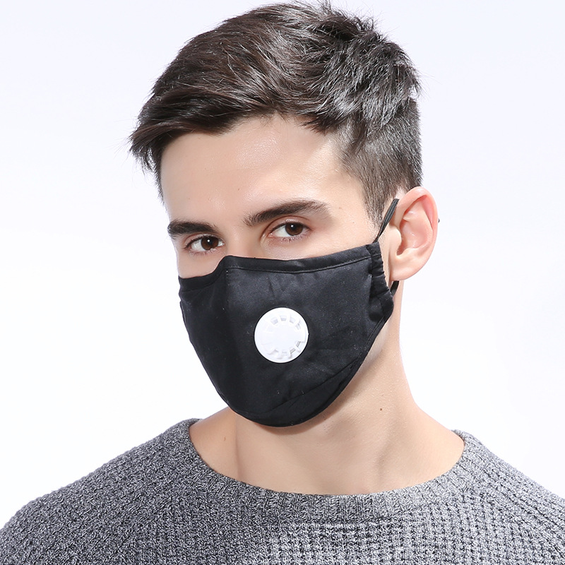 10 PCS Dust Mask Respirator Washable Reusable Masks Cotton Unisex Mouth Muffle 5 Layers PM2.5 Carbon Filter Face Masks