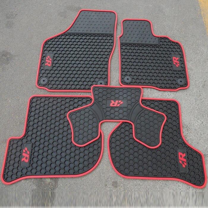 tapis de sol de voiture en caoutchouc hk pour volant droitier avec logo gti tsi r golf pour volkswagen golf 5 6 scirocco livraison gratuite