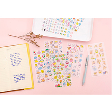 6pcs/lot Creative Cartoon Cute Pet Funny Series Sticker Decoration Diy Craft Album Stickers Scrapbooking stationary