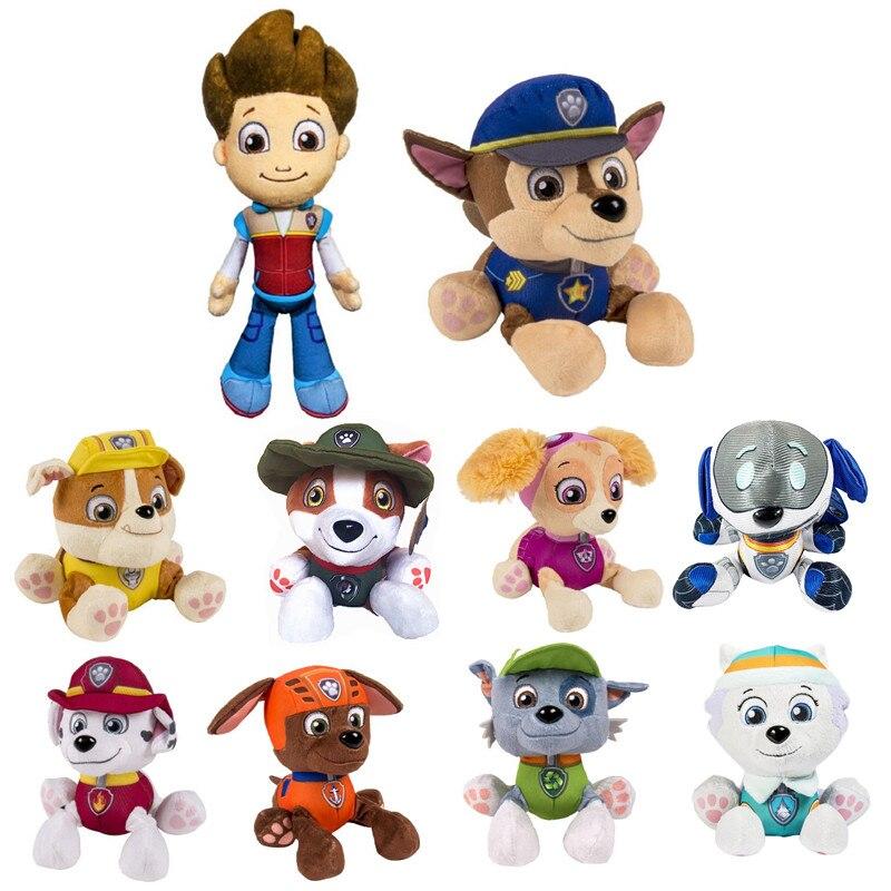 Paw patrol pluszowy pies zabawka Ryder Everest zabawka dla dzieci puppy patrol anime akcja pluszowa zabawka chłopiec dziewczyna urodziny prezent na boże narodzenie