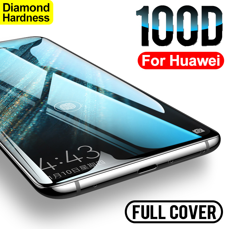 Curved Full Cover Protective Tempered Glass On For Huawei P30 P20 Lite Pro Screen Protector On Huawei Mate 20 Lite 9 10 Lite Pro