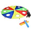 Радуга парашют 6 футов, играть парашют на открытом воздухе игры (W мышь) игрушка деятельности с 3x воздушные палочки 2 м