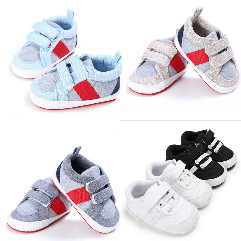 New Hot Sale Infant Baby Shoes Boys Girls Soft Sole Sneaker Crib Anti-slip Shoes Size 0-18 Months
