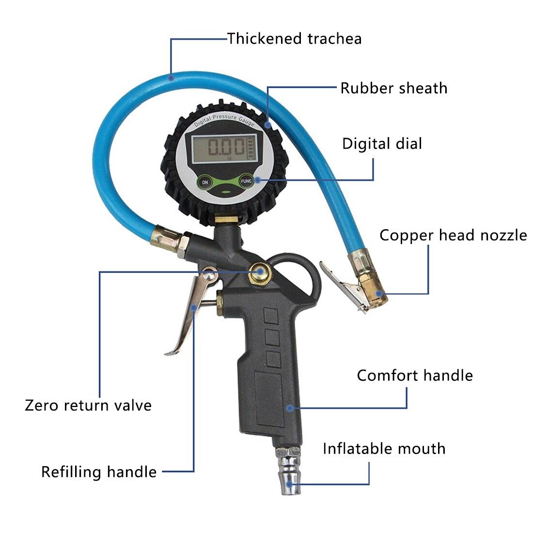 0-220 фунтов/кв. дюйм 0-16 бар монитор давления в шинах манометр автомобильный Автомобильный грузовик Надувное колесо с манометром измеритель д...