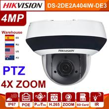 Original Hikvision IP Camera 4MP PTZ DS 2DE2A404IW DE3 Updateable 2.8 12mm 4x Zoom POE H.265 CCTV Video Surveillance security