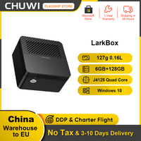 CHUWI-miniprocesador Celeron J4115, sistema windows 10, cuatro núcleos, PC Intel, 128G, EMMC, 6GB RAM, LarkBox, 4K