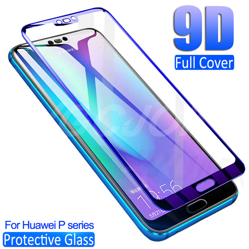 9D Protective Glass For Huawei P30 Lite P20 Pro Screen Protector On P10 Plus P9 Lite 2017 P Smart 2019 Tempered Glass Film Case