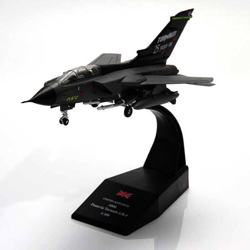 1/100 Scale Panavia Tornado Fighter Military <font><b>Aircraft</b></font> Airplane <font><b>Models</b></font> Adult Toys for Display Show Plane Fans Collection Decorate image
