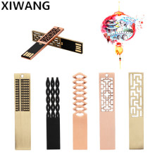 Pen Drive 32GB Metal USB Flash 64gb Chinese style Memory Stick 8gb 2.0 128GB Pendrive 16GB 8GB Free custom LOGO