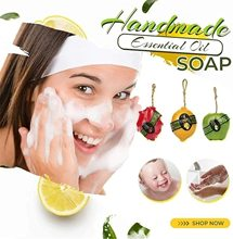 1pc Natural Organic Handmade Soap Moisturizing Skin Deep Cleaning Whitening Essential Soap Brighten Skin Soap Natural Fruit Soap
