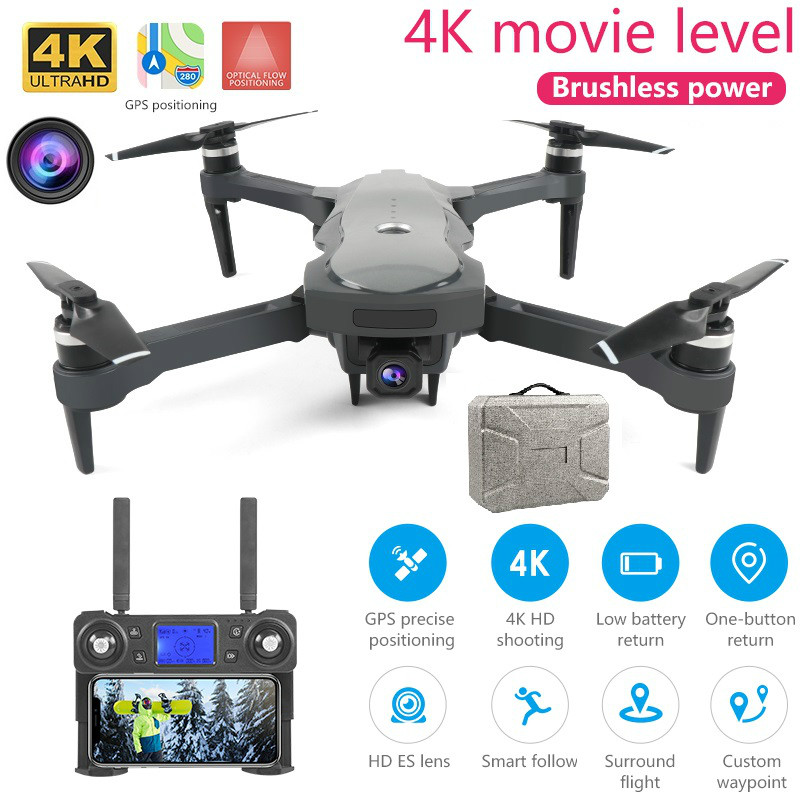 New Drone K20 With Brushless Motor 5g Gps 4k Hd Dual Camera Professional Foldable Quadcopter Rc Long Range 1800m Toys For Girls|  - title=