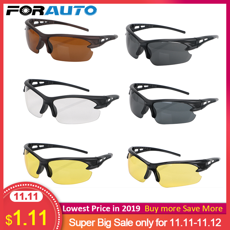 FORAUTO Car Night Vision Glasses Driver Goggles Explosion-proof Sunglasses Windproof For Outdoor Riding Glass Spectacles