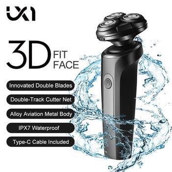цена на UICINOY Triple Blade Electric Shaver Male Washable Rechargeable Shaving Beard Machine 3D Head Dry Wet Razor Shaving Machine New