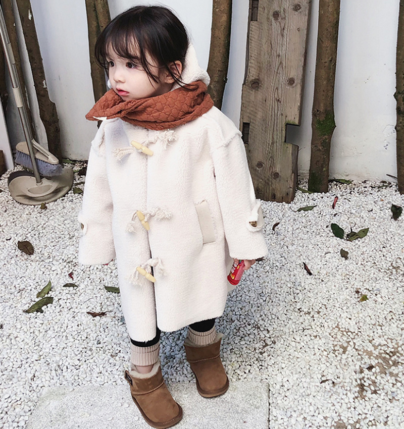 Berber fleece jackets for girls coats children clothing autumn winter baby with hooded