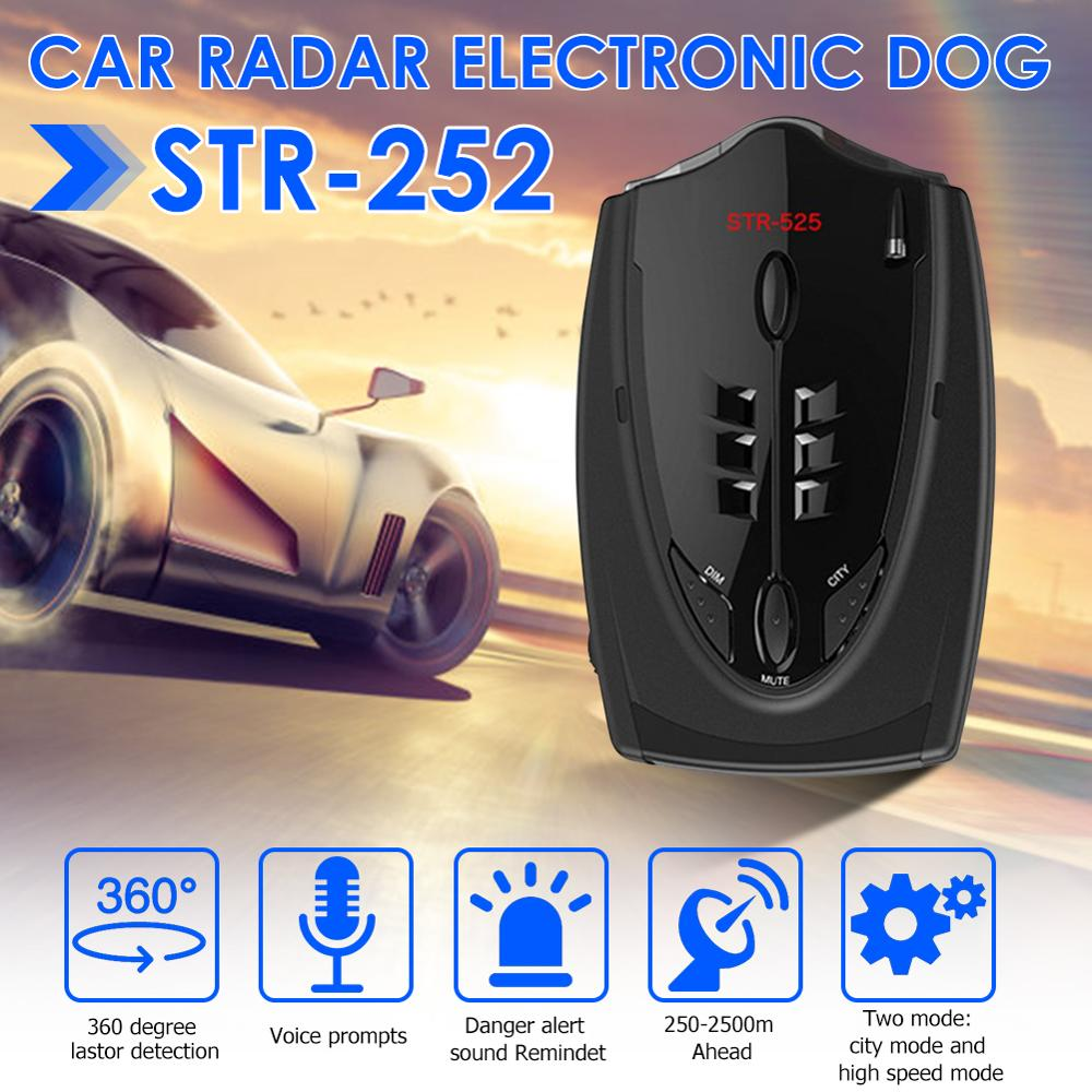 STR-525 Radar Detectors Car Anti Radar Detector English Russian Thai Voice Alert Police Speed Auto X K CT La(China)