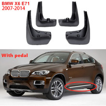 цены Car Mud Guards Splash Guards mud flaps Car Fenders Mud-Flaps For BMW X6 E71 With Pedal 2007-2014 Accessories