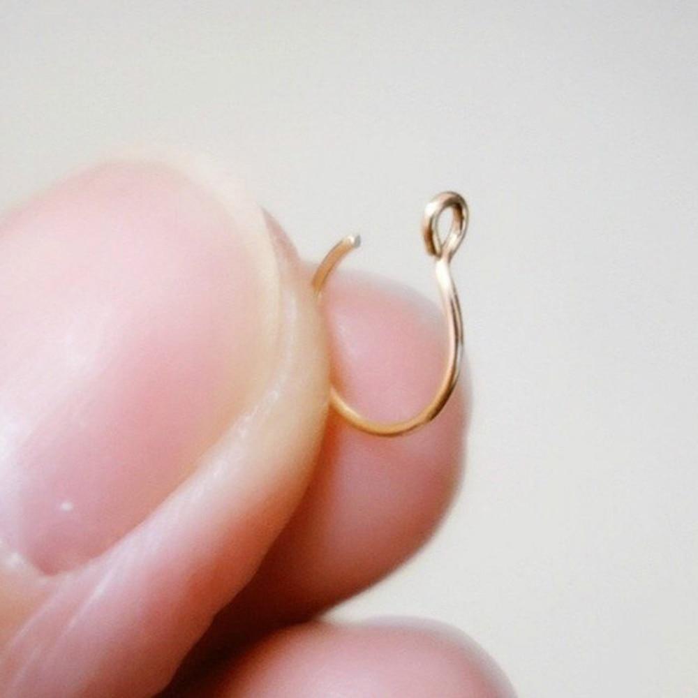 Women Nose Rings Medical Titanium Nose Ring Fake Nose Ring Septum Piercing Clip On Nose Ring Fake Piercing Gold Body Clip Hoop