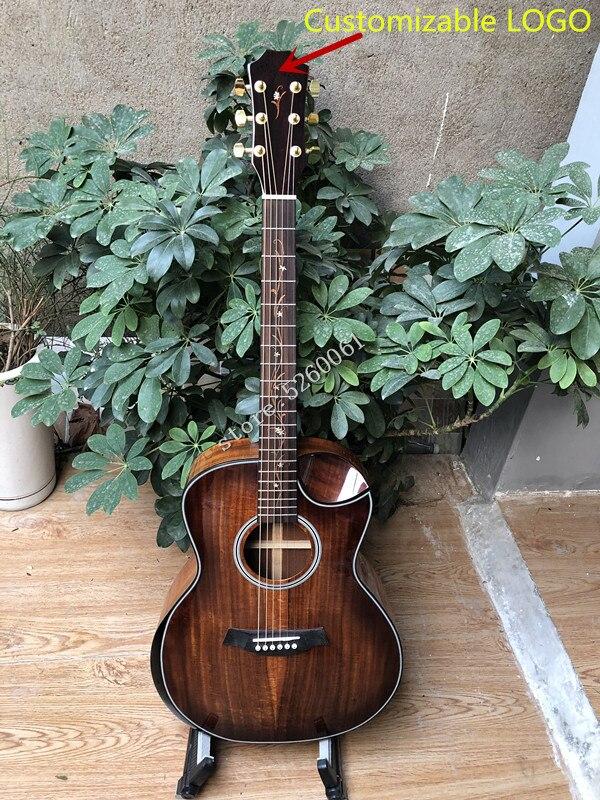 Usine personnalisée + nouveau K 24 cutaway koa guitare acoustique + guitare électrique avec accoudoir + livraison gratuite