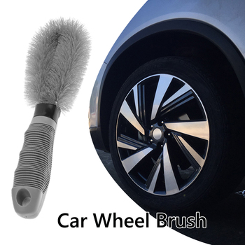 Car Wheel Brush Cleaning Scrub Brush Auto Washing Tool Non Slip Handle Tire Rim Outdoor Anti-resistance Repairing Parts image