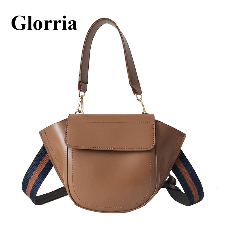 Glorria Women Leather Purses And Handbag Women Messenger Shoulder Bag Female Ribbon Tote Crossbody Bag 2019 Mini Hobos Sac A Dos