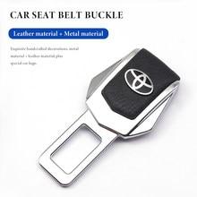 Автомобильный штекер ремня безопасности, автомобильная карта ремня безопасности, индивидуальная Пряжка для Toyota camry chr corolla rav4 yaris prius, автомо...