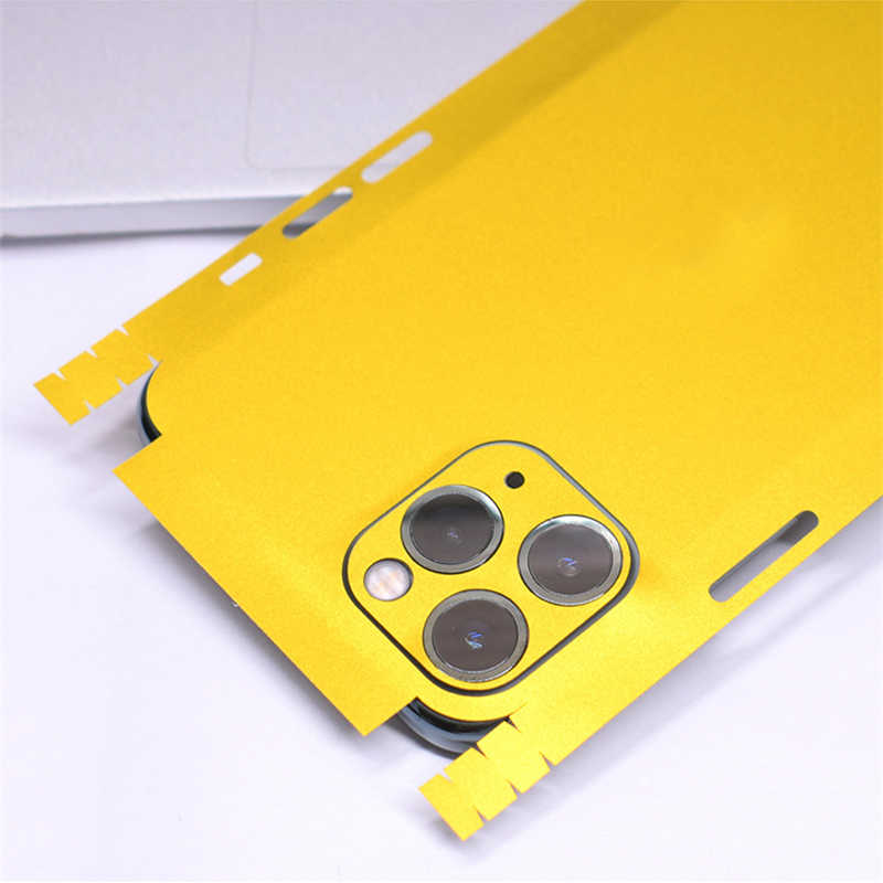 Renkli mat Skins streç film cilt telefon arka Sticker iPhone 11 Pro XS MAX XR X 8 7 6 6S artı temizle koruyucu yapışkan film
