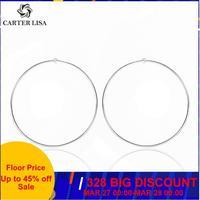 CARTER LISA Simple or acier inoxydable cercle fil cerceaux boucles d'oreilles pour femmes bricolage boucle d'oreille jboucles d'oreilles bijoux HSE0197000