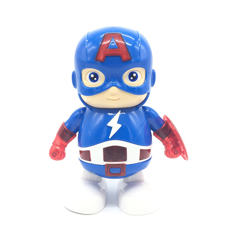 Avenger Hero America Union Iron And Steel Beauty Captain Man Dancing Robot Electric Music Toy Foreign Trade English