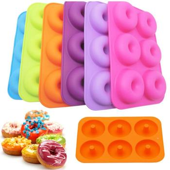 1pcs Silicone Donut Mold Baking Pan DIY Doughnuts Mould Maker Non-stick Cake For Donuts Bagels Pastry Tools
