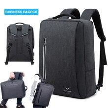 Business Laptop Bagpack For Men Women Backpack Travel Bag Hand 15.6 Notebook USB Charger Black Back Pack Mochila Man