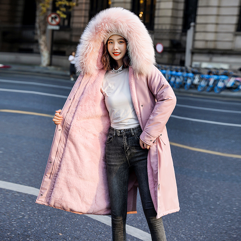 Winter  Parka  Coat  Fur Collar Women Jackets Hooded Waterproof Parkas Outerwear Long Casual High Quality Manteau Femme