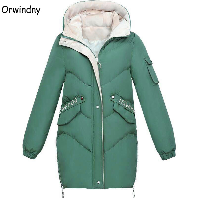 pretty nice entire collection cheap for sale Orwindny Wadded Clothing Female 2019 New Women's Winter Jacket ...