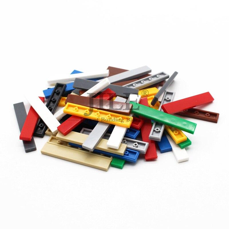 Moc Tiles 1x6 6636 Tablet DIY Creative Enlighten Block Bricks Bulk Set Compatible With Assembles Particles