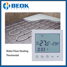 TDS21WP Water Underfloor Heating Thermostat Weekly Programmable Room Temperature Controller Thermostat with White Backlight