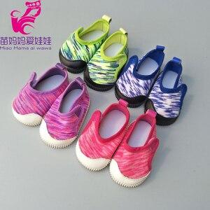 """Image 3 - Zapatos para muñecas de 43 cm para recién nacidos, zapatos para muñecas negras y blancas de 18"""""""