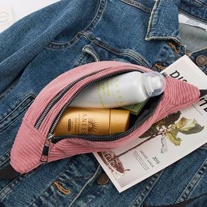 Women Corduroy Waist Bag Ladies new Designer Canvas Fanny Pack Fashion travel Money Phone Chest Banana Bag Female Bum Belt Bags