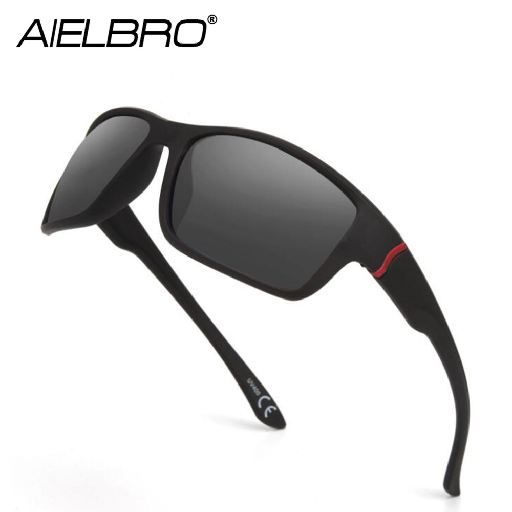 AIELBRO Men Sport Sunglasses UV 400 Protection Golf Sun Glasses Women Driving Cycling Hiking Glasses Fishing Eyewear