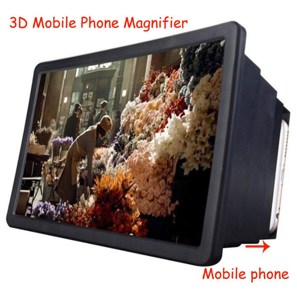 3D Enlarged Screen Amplifier Mobile Phone Magnifying HD Stand For Video Folding Screen Enlarged Eyes Protection Phone Holder