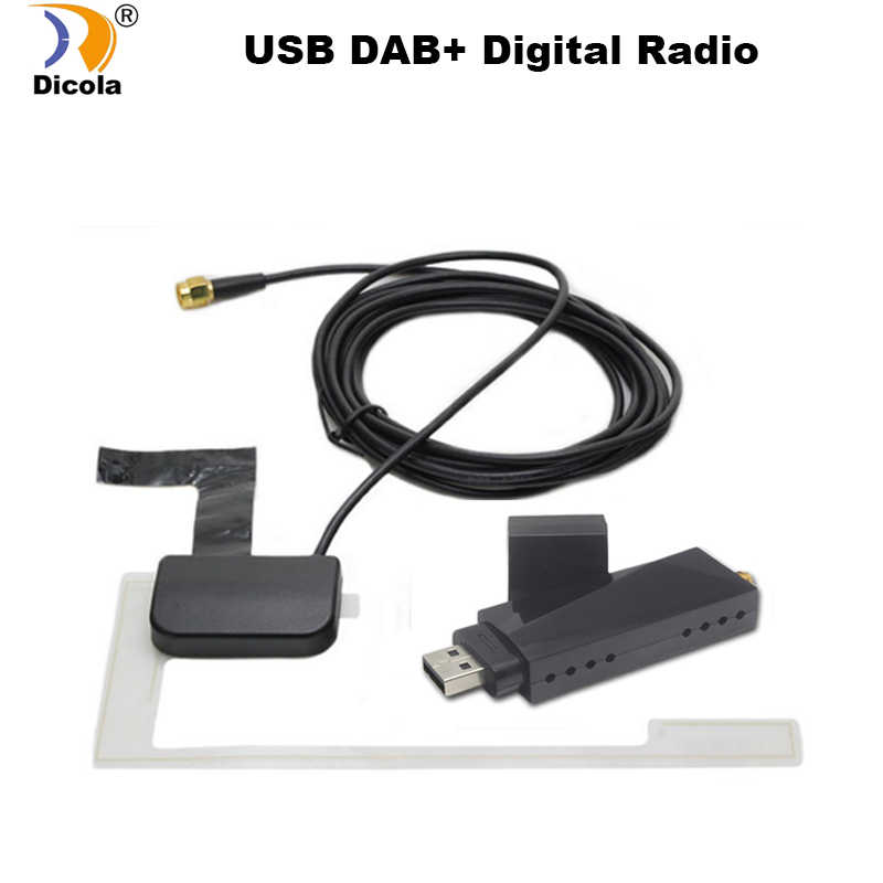 USB 2.0 Digital DAB + Radio Tuner Receiver Stick For Android Car DVD Player Autoradio Stereo USB DAB Android Radio Car Radio