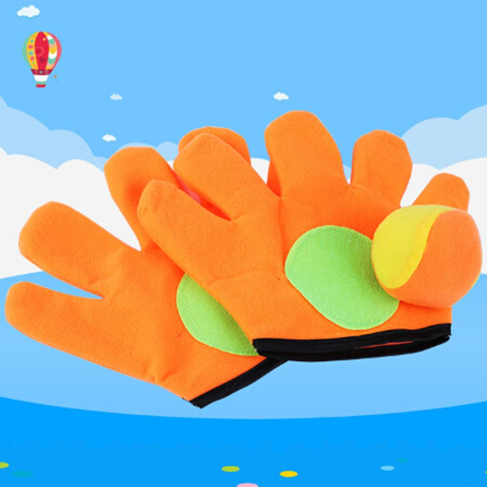 Outdoor Catch Toy Throw Ball Sucker Racket Sticky Gloves Children Playing Game New