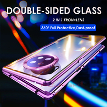 Metal Magnetic Adsorption Case for Huawei P40 P30 Pro Lite Double Sided Tempered Glass for Huawei P40 Mate 30 20 Pro Magnet Case