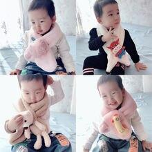 2020 детские милые осенние шарфы в виде животных и фруктов для