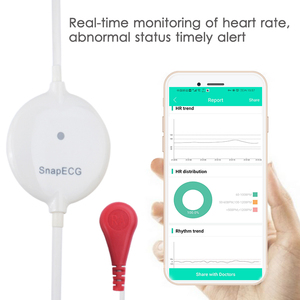 Image 3 - Snelle Mini Draagbare Draagbare Ecg Monitor Meting Machine Ekg Real Time Hart Ondersteuning Elektrode Holter Voor Android Systeem