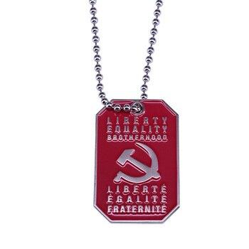 Collar socialista Socialista soviética, accesorio de guerrero de la justicia social, militante Lenin