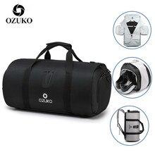 OZUKO дорожная Сумка Многофункциональная большая вместительность Мужская водонепроницаемая сумка для путешествий костюм для хранения ручной клади сумки с мешочком для обуви