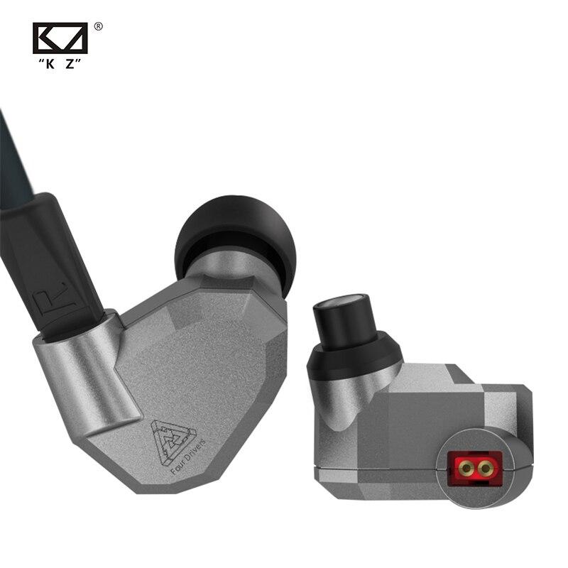 AK KZ ZS5 2DD + 2BA hybride dans l'oreille écouteur HIFI DJ Monito Sport en cours d'exécution écouteurs oreillette casque oreillette KZ ZS10 PRO AS10 AS16