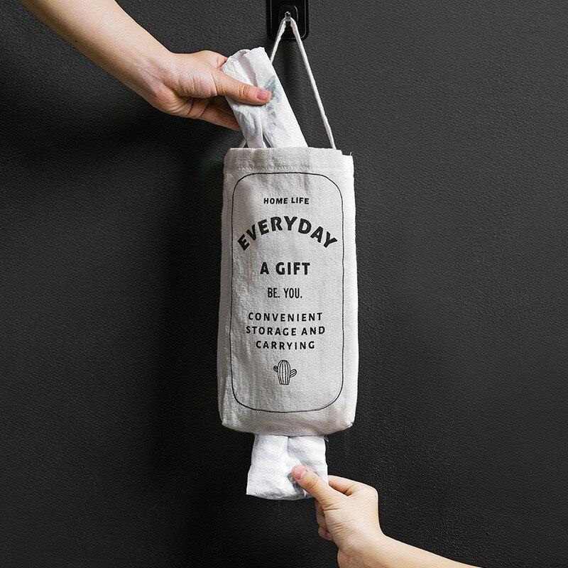 Wall-mounted Cloth Plastic Bag Dispenser Storage Extractor Home Decoration Debris Paper Towel Bag Organizer Kitchen Supplies