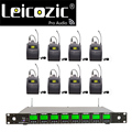 Leicosic 512-588 МГц UHF 8 каналов микрофон беспроводной живой вокальный микрофон с отворотом беспроводной микрофон профессиональный беспроводной ...