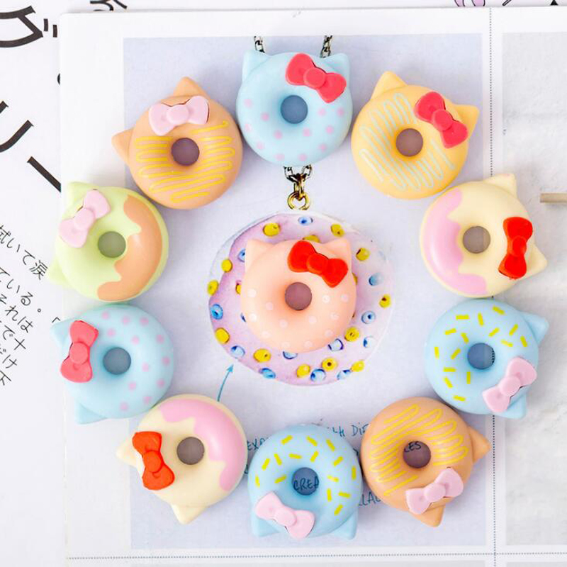 Kawaii Cartoon Hello Kitty Donut Pencil Eraser Office School Correct Supplies Child Writing Drawing Correction Rubber Gift